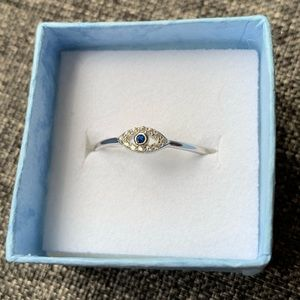 Accessories - Lucky eye sterling silver ring